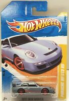 2011 Hot Wheels New Models Porsche 911 GT3 RS Steel Blue w/ChrRedPR5