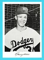1960 Danny Goodman Los Angeles Dodgers 5x7 picture Maury Wills (KCR)