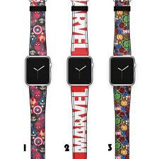 Marvel Apple Watch Band 38 40 42 44 Series SE 6 5 1 2 3 4 Wrist Strap iWatch S61