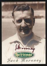1996 Futera Jack Moroney Signature Heritage Collection Cricket Card no. 8