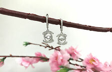 Sterling Silver Fashion Dancing Stone Drop/Dangle Earrings with AAA quality CZ
