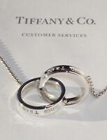 Tiffany & Co Sterling Silver 1837 Interlocking Circles Medium 20 Inch Necklace