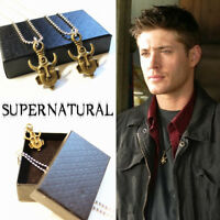 Supernatural Jensen Ackles Dean Winchester Amulet Cosplay necklace with Gift Box