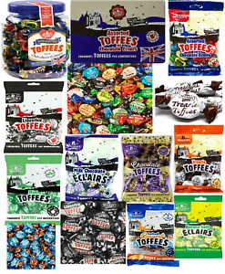 Walkers Nonsuch Toffees Assorted Flavours Tin / Jar Sweets Chocolate Eclairs