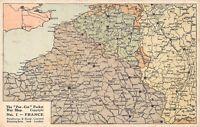 POSTCARD   FRANCE   POCKET  WAR  MAP