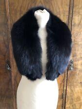 A Black Fox Fur Collar To Wear Over Coats Jackets