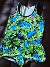 Originally $298 Size Medium Juicy Couture Green ~ Navy ~Floral Romper
