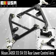 For Nissan 240SX 1989-1994 S13 1995-1998 S14 Rear Adj. Lower Control Arms BLACK
