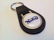 NORTON qualité véritable cuir noir Porte-clés