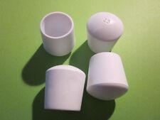 4 Stuhlbeinkappen weiß 25 mm,  Möbelgleiter Filzgleiter Kappen Stuhlkappen