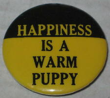 "Snoopy Classic  ""Happiness Is A Warm Puppy"" Pin 1.25"""