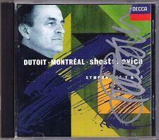 Charles DUTOIT Signiert SHOSTAKOVICH Symphony No.1 & 15 Schostakowitsch DECCA CD