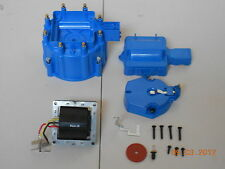 BLUE HEI Distributor Cap, Coil Cover & Rotor Kit and 65,000 Volt Coil GM-CHEVY