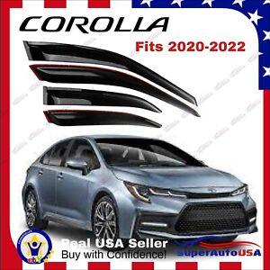 For Toyota Corolla 20-22 Wind Tinted Window Visor Rain Sun Guard Vent Deflectors