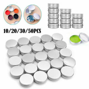 15-100ml Small Mini Round Tin Can Box Metal Jewelry Container Case w/Screw Lid
