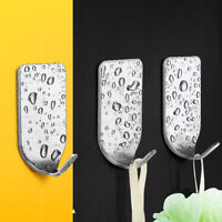 8Pcs Bathroom Self Adhesive Hooks Stick On Wall Sticky Clothes/Hat/Coat Hanger