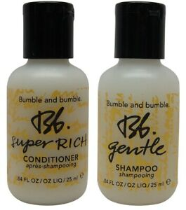 Bumble and Bumble Gentle Shampoo and Super Rich Conditioner (2 of Each) 0.84oz