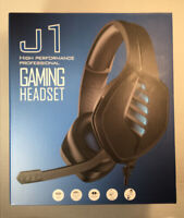Gaming Headset With Mic Wired For PC XBOX One PS4 Laptop Brand New In Box