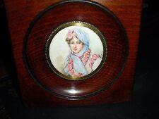 French MINIATURE 19th. C. Portrait of impress Marie-Louise Napoléon's wife