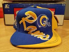 St Louis Rams Vintage 90s Logo 7 Snapback Big Logo Script Brim (New) LA Rams