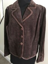 Alice BLUE- Suede Jacket_ sz XXL Lined Dark Brown New Without Tags Free Shipping