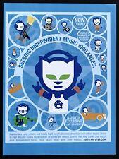 2004 Vintage Print Ad NAPSTER Art Animal Mascot Download Music History