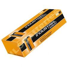 10 Box of Duracell 9V Industrial Batteries MN1604 6LR61 PP3 block