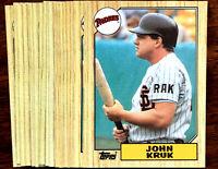 1987 Topps JOHN KRUK (RC)  ~ 20 CARD LOT ~ PADRES / PHILLIES