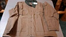 FILSON MADE IN USA  TIN JACKET OILED  item 10007 .TIN CLOTH SIZE large  -187