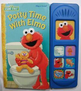 """Sesame Street Books. """"Potty Time With Elmo"""" Play-a-Sound"""