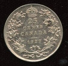 1927 Canada 25-Cent Key Date Silver Coin