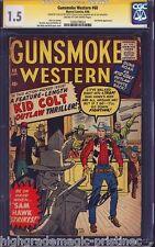 GUNSMOKE WESTERN #60 (1960) CGC 1.5 SS STAN LEE SIGNED CGC #1203278024