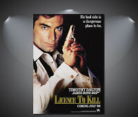James Bond 007 Licence to Kill Vintage Movie Poster - A1, A2, A3, A4
