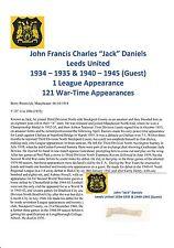 JACK DANIELS LEEDS UNITED 1934-1935 & 1940-45 VERY RARE ORIGINAL SIGNED CUTTING