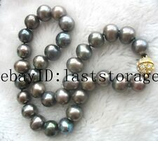 """wholesale freshwater pearl near round 11-13mm necklace 17"""" nature GOOD QUALITY"""