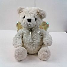 Avon 2001 White Bear with Gold Wings and Silver Neck Ribbon - Wings Dont Work