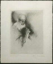 CARL JOSEF BAUER Hand Signed ~ GERMAN ART DECO ~ Etching NUDES c.1920