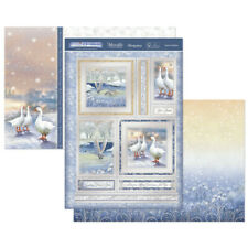HUNKYDORY A White Christmas FESTIVE FEATHERS Foiled Toppers 2 A4 Card WHITE906