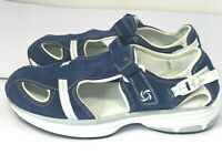 Women's, ROTASOLE Taupe & Blue Suede Sporty Sneaker Sandals , Size 9.5