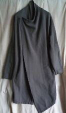 SILENT by DAMIR DOMA grey khaki LONG ASYMMETRICAL KIMONO COAT SIZE XS