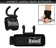 Kango Fitness Weight Lifting Heavy Duty Neoprene Padded Wrist Hook Bar Straps