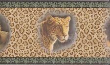 Seabrook HB2003B Gold Black Leopard Skin Prepasted Wallpaper Border 26 ft (BB8)