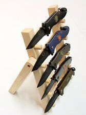 """Wooden Knife Rack or Display Stand, Selling at Flea Markets Knife Show 7.5""""W -M"""