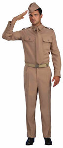 World War II Private Adult Costume Military Soldier Uniform Standard Size