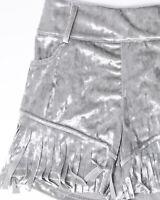 CRAZY TRAIN Women's Velvet Fringe Shorts