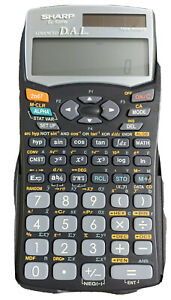 SHARP EL-520W ADVANCED D.A.L. SCIENTIFIC CALCULATOR With Holder Used Tested Work