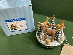 Deb Strain Candle Capper Christmas Forest Animals Old Virginia
