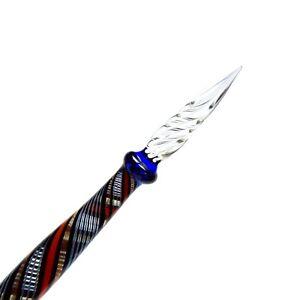 Rohrer & Klingner   Glasschreiber   Schreibfeder aus Glas   blau / rot