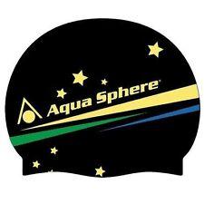 Articles de natation et d'aquagym noirs en silicone
