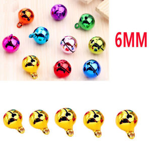 5Pcs 6mm universal Automotive Interior Pendants Metal Jingle Bells yellow 688AAA
